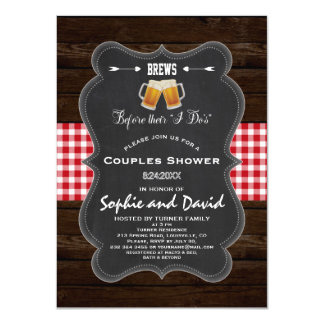 """Romantic BREWS Before Their """"I Do's"""" Engagement Card"""
