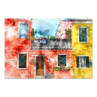 Romantic Burano Italy near Venice Italy Photo Print