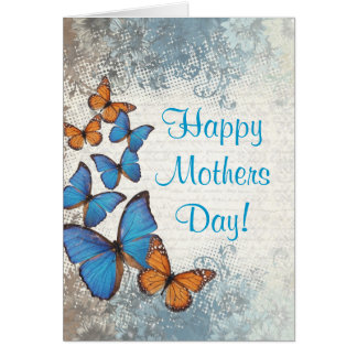 Romantic butterfly  mothers day card