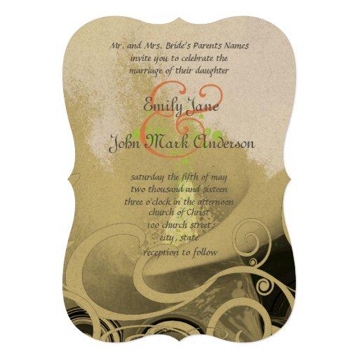 Romantic Calla Lily Wedding Invitation