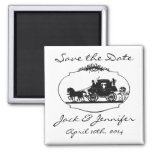 Romantic Carriage Silhouette - Save the Date