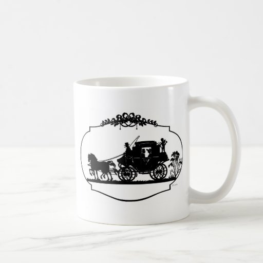Romantic Carriage Sillhouette Basic White Mug
