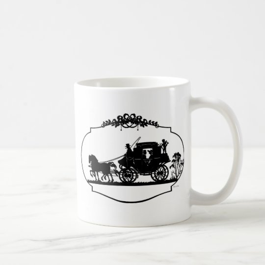 Romantic Carriage Sillhouette Coffee Mug