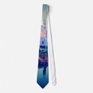 ROMANTIC CASTLE & SWAN by SHARON SHARPE Tie
