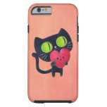 Romantic Cat hugging Red Cute Heart Tough iPhone 6 Case