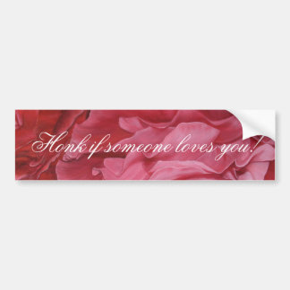 Romantic chic red love roses bumper stickers