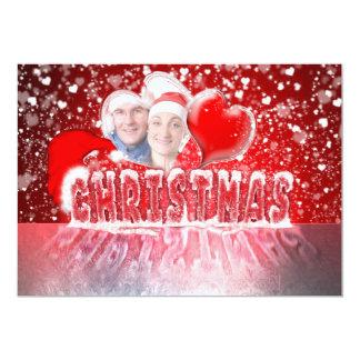 Romantic Christmas invitations