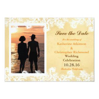 Romantic Couple Holding Hands at Sunset 13 Cm X 18 Cm Invitation Card