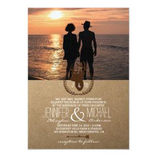 Romantic Couple Holding Hands at Sunset/deer 13 Cm X 18 Cm Invitation Card