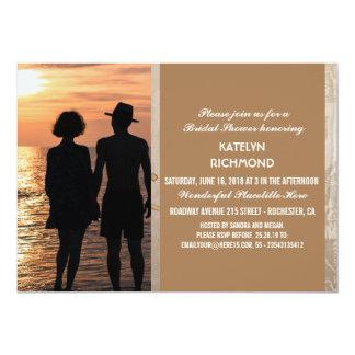 Romantic Couple Holding Hands at Sunset/Wedding 13 Cm X 18 Cm Invitation Card