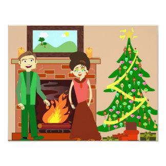 Romantic Couple Holiday Custom Invite
