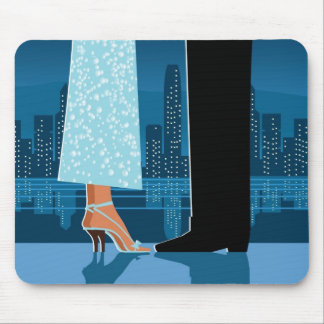 Romantic Couple in City Mouse Mat