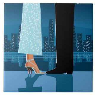 Romantic Couple in City Tile