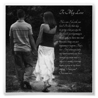 Romantic Couple To My Love Verse Photo Print