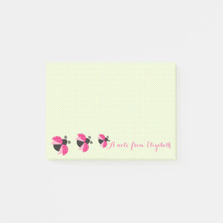 Romantic Cute Lovely  Stylish ,Polka Dots,Ladybugs Post-it Notes