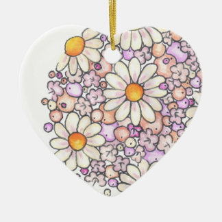 Romantic Daisies Christmas Ornament