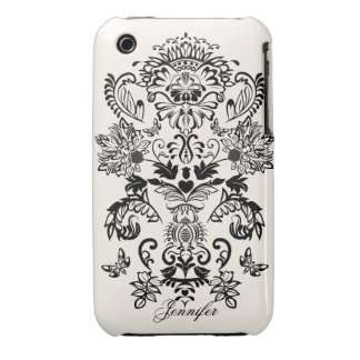 Romantic Damask & Name  iPhone 3G/3GS Case iPhone 3 Cover