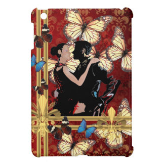 Romantic dancers and butterflies iPad mini cover
