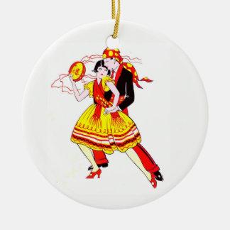 Romantic Dancers Christmas Ornament