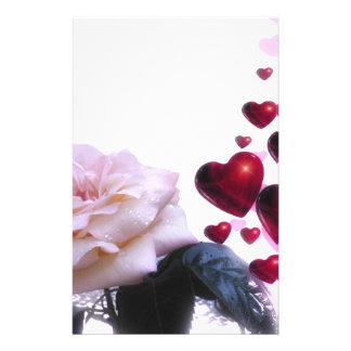romantic date bridal shower vines heart hearts koi 14 cm x 21.5 cm flyer