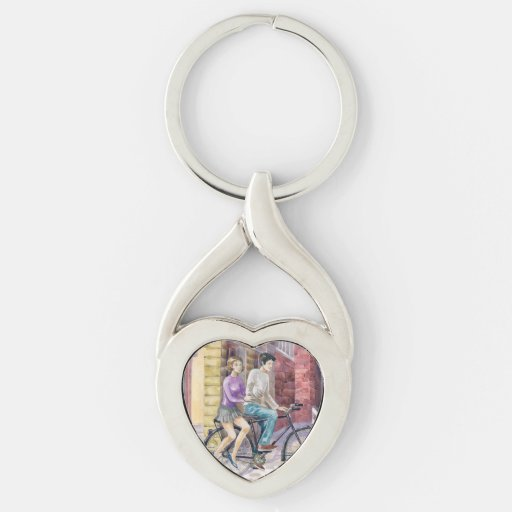 Romantic date key chain