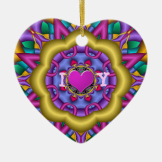 Romantic decorative ornament with text & heart