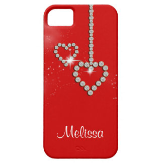 Romantic diamond heart girls name iPhone 5 cover