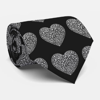 Romantic Diamond Love Hearts Tie