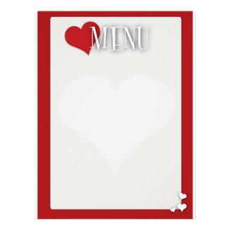 Romantic Dinner menu Blank 21.5 Cm X 28 Cm Flyer