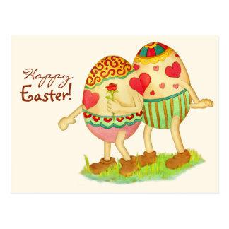 Romantic Easter Postcard
