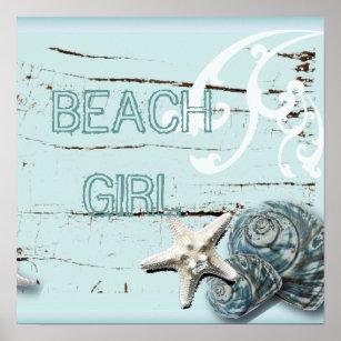 Romantic Elegant blue Seashell Beach decor