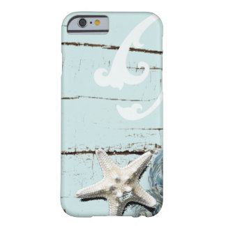 Romantic Elegant blue Seashell Beach decor Barely There iPhone 6 Case