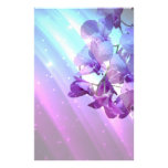 romantic elegant glamour purple orchid wedding stationery