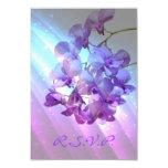 romantic elegant purple orchid wedding RSVP 9 Cm X 13 Cm Invitation Card