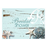 Romantic Elegant Seashell Beach bridal Shower Personalised Announcement
