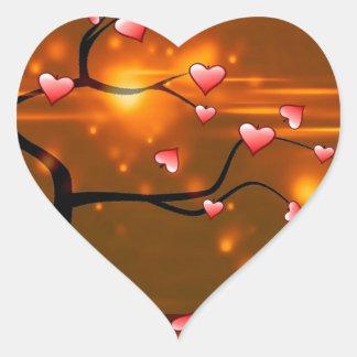 Romantic Elegant Wedding Heart Sticker