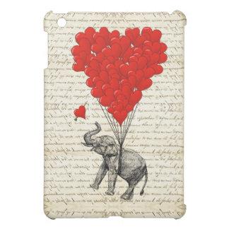 Romantic elephant & heart balloons cover for the iPad mini