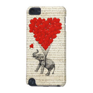 Romantic elephant & heart balloons iPod touch (5th generation) cases