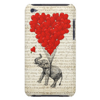 Romantic elephant & heart balloons iPod touch Case-Mate case