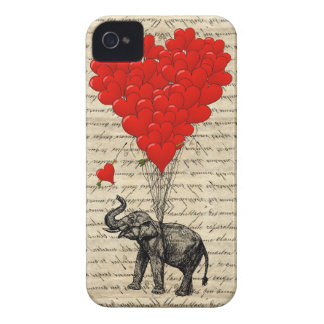 Romantic Elephant heart iPhone 4 Case-Mate Cases