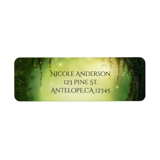 Romantic Enchanted Forest Rustic Address Labels