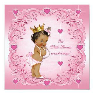 Romantic Ethnic Princess Love Hearts Baby Shower 13 Cm X 13 Cm Square Invitation Card