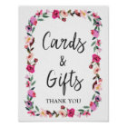 Romantic Fairytale Blossom Wreath Cards & Gifts Poster