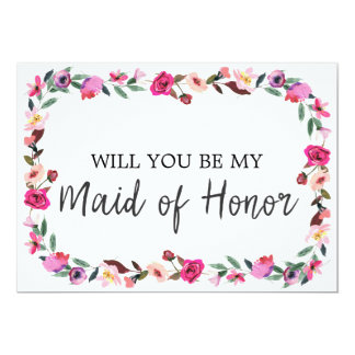 Romantic Fairytale Will You Be My Maid of Honor Card