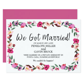 We Eloped Invitations & Announcements | Zazzle.co.uk