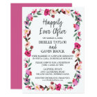 Romantic Fairytale Wreath Elopement Reception Card
