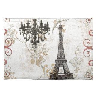Romantic Fall Autumn Leaves Paris Eiffel Tower Placemat