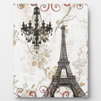 Romantic Fall Autumn Leaves Paris Eiffel Tower Plaque