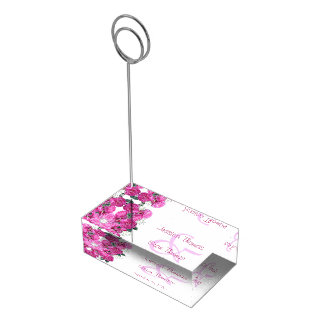 Romantic Floral Bouquet Wedding Table Number Holder