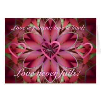Romantic floral card